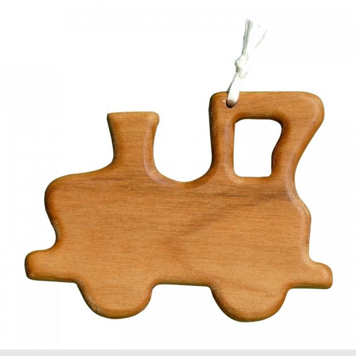 Christbaumschmuck aus Holz   Lokomotiv   Geschenkanhänger