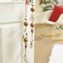 Fensterdeko Holz | 2er Set braun-weiß |Stern Tanne Holzhänger