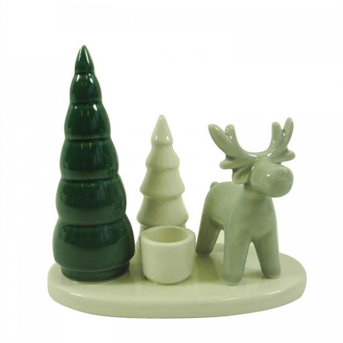 Weihnachtsdeko Zum Kaufen.Kerzenständer Tanne Hirsch Weihnachtsdeko Wald