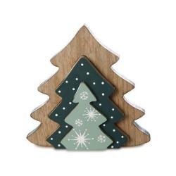 Hirsch farbig im Baum - weiß - Weihnachtsdeko