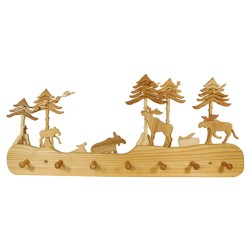 Kindergarderobe aus Holz | Haus am Wald