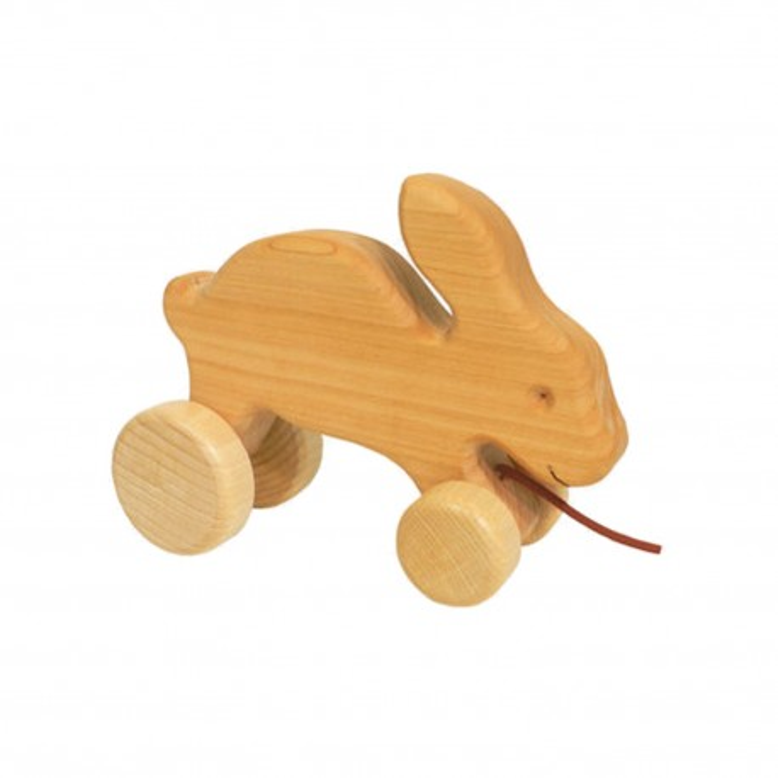 Ziehtier Hoppelhase Hanner aus Holz