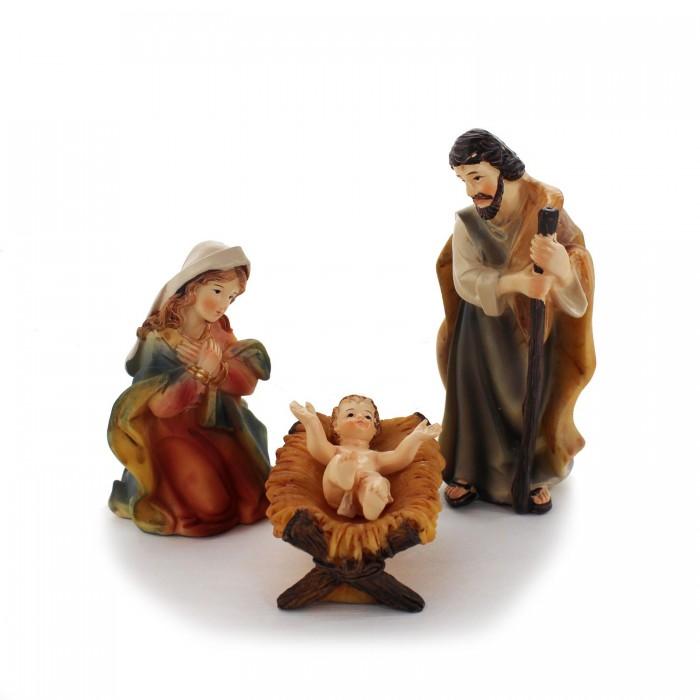 Krippenfiguren Set | Heilige Familie 10 cm