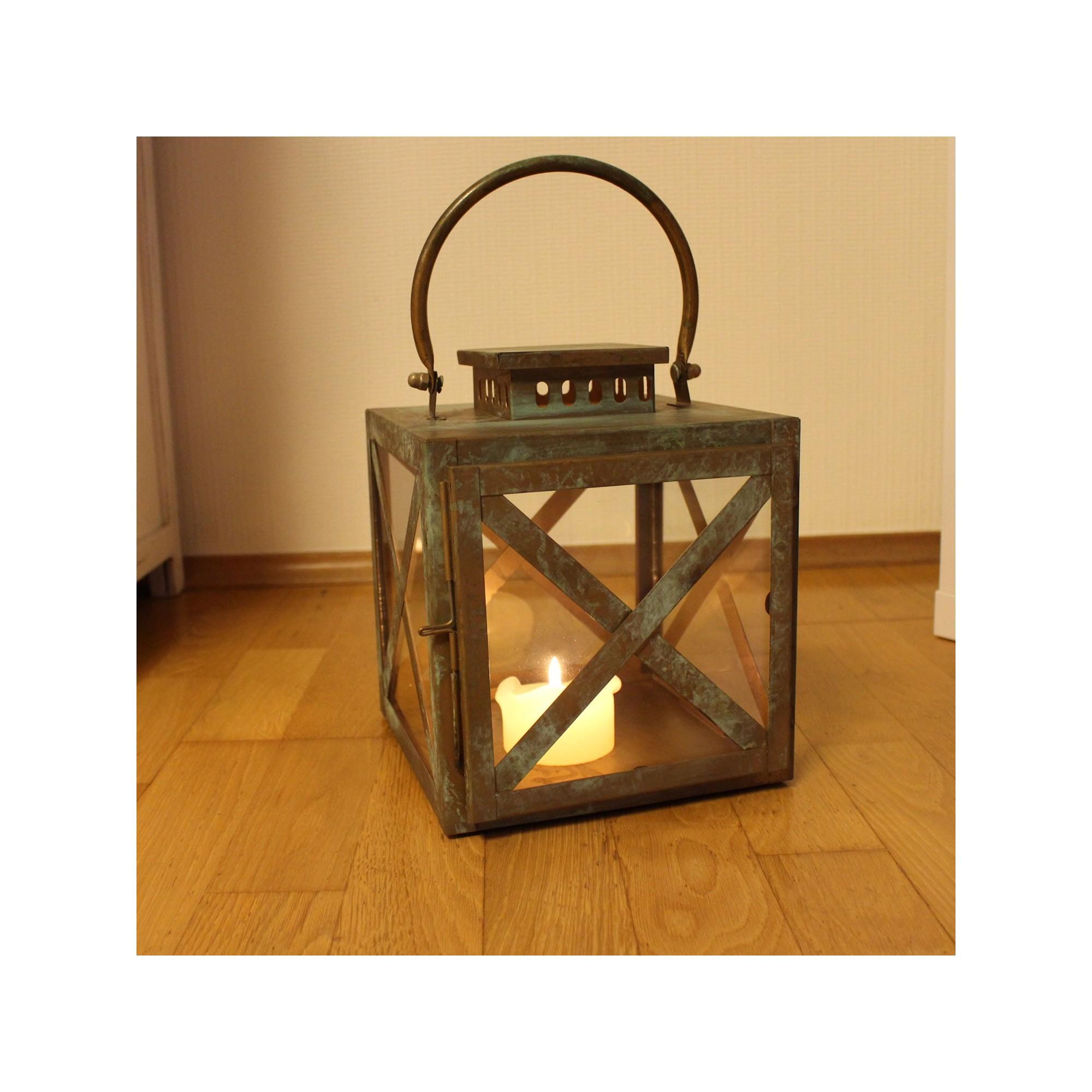 Deko Laterne Quadratisch Aus Metall