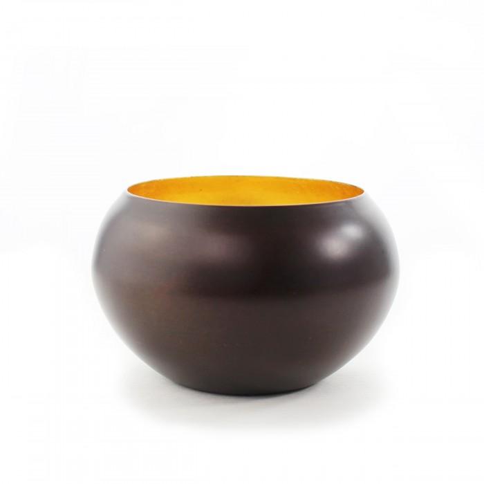Teelichthalter   Teelichtschale Roomy bronzen/gold klein