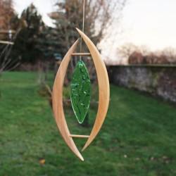 Fensterdeko Oliva mit Glass