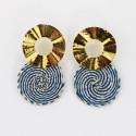 Ohrringe gold-aqua |Goldschmuck UNIKAT handmade