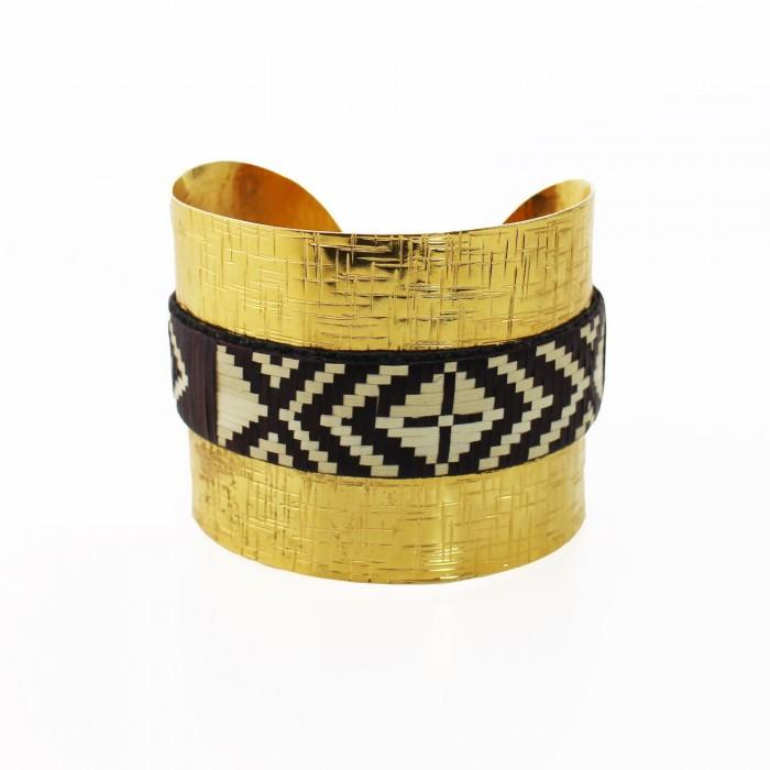 Armreif | Armband gold - braun | UNIKAT Handmade
