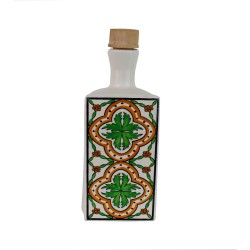 White ceramics bottle 600ml