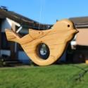Fensterdeko Vogel aus Holz | Bleikristall Zapfen