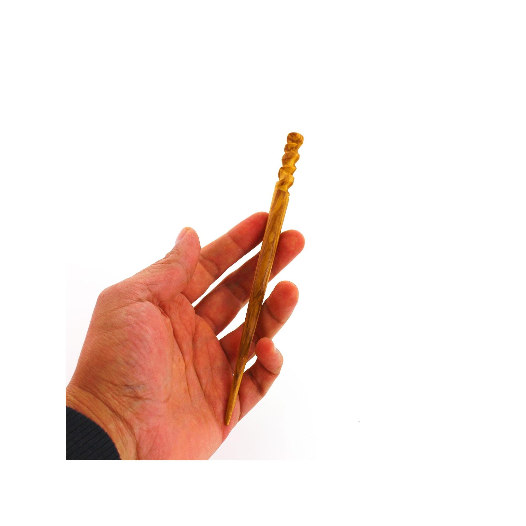 Natürlicher Haarschmuck Handarbeit Haarstab aus Holz