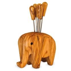 Elefant aus Holz, Aufbewahrung Picker