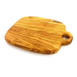 Steakbrett aus Olivenholz | Holzbrett 38 cm mit Griff