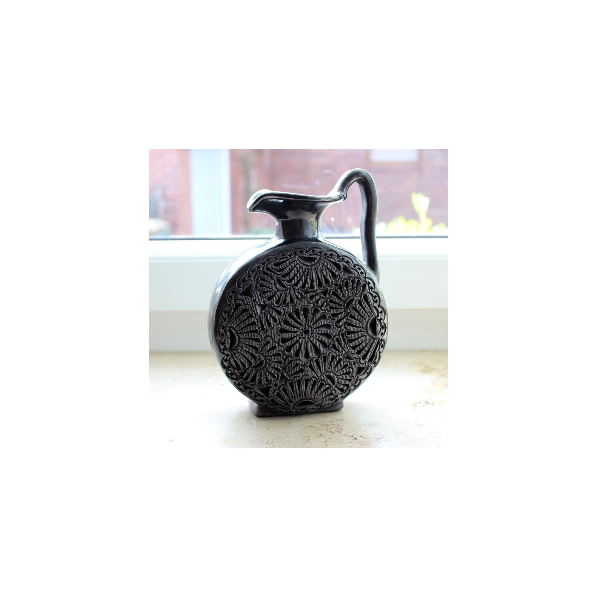 schwarze keramik krug solecito deko blumenvase kaufen. Black Bedroom Furniture Sets. Home Design Ideas