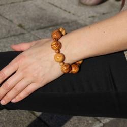 Armband aus Holz runde Perlen