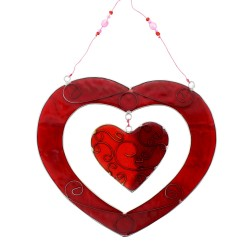 Fensterdeko Herz filigran