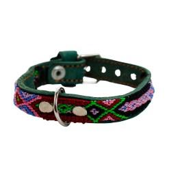 Hundehalsband mit Armband  Unikat - Chiapas