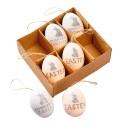 Osterdeko Eier 6er Set Happy Easter
