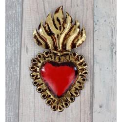 Wanddeko Herz gold Fuego