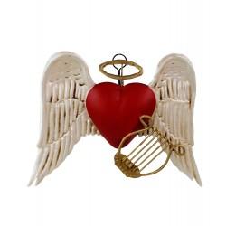 Wanddeko Herz Engel