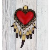 Wanddeko Herz Navajo
