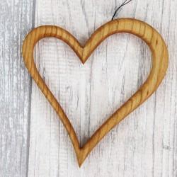 Fensterdeko aus Holz | Herz