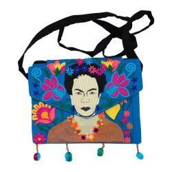 Tasche Frida Kahlo hell blau