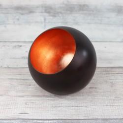Teelichthalter Kugel | Globe bronze/kupfern 9cm