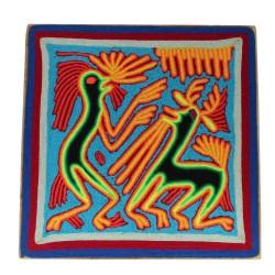 "Fadenbild Wanddeko ""Baile"" | Wandbild 20 x 20 cm"