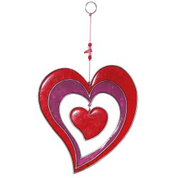 Fensterdeko Herz - Geschenk für Mama
