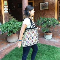 Einkaufstasche Boho schwarz San Andres