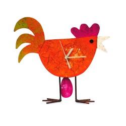 Standuhr Huhn mit Ei