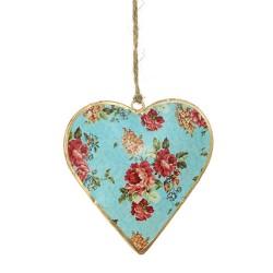 Deko Anhänger - Herz blau
