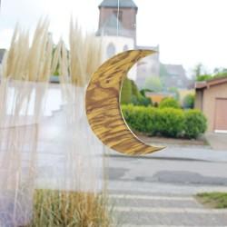 Fensterdeko aus Holz Mond 20cm