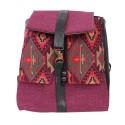 Rucksack Damen mit Taschen violett greca
