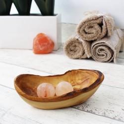 Seifenschale Rustikal aus Holz 12 cm