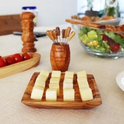 Schälchen viereckig 13 cm aus Holz