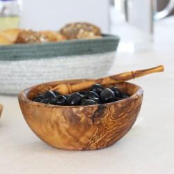 Müslischale aus Olivenholz 14 cm