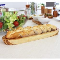 Baguette- oder Olivenschale aus Holz