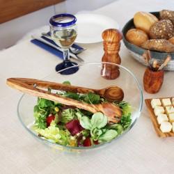 Salatzange mit Feder aus Holz 31cm