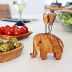 Elefantenringhalter aus Holz | Stiftehalte oder für Olivenpiker