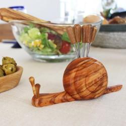 Schnecke aus Holz | Stiftehalte oder für Olivenpiker