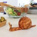 Schnecke aus Holz , Olivenpicker