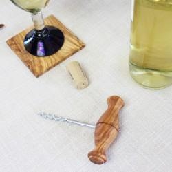 Flaschenöffner aus Holz Birne, Kronkorkenöffner