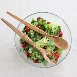 Salatbesteck Spitz aus Olivenholz