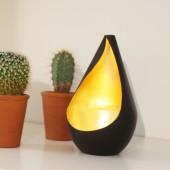Teelichthalter, Teelichtschale Lumy bronze/gold