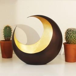Teelichthalter | Luna bronzen/golden 18cm