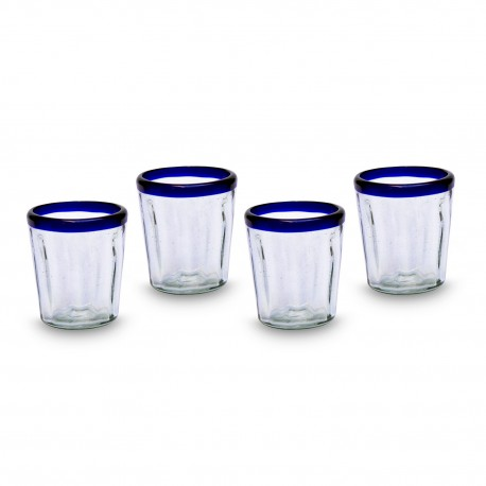 Weinglas 4er Set Conical blau