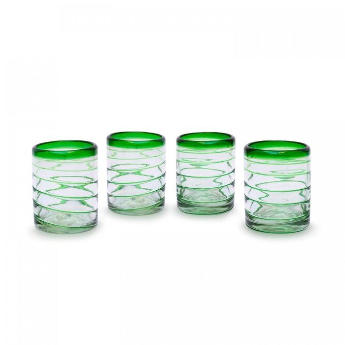 Glässer 4er Set Espiral grün