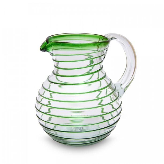 Karaffe Bola Espiral grün